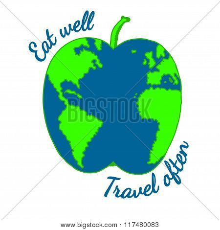 Eco travel concept and healthy eating