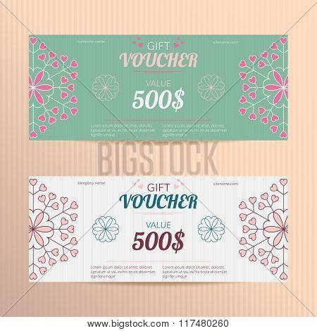 Vector gift voucher.