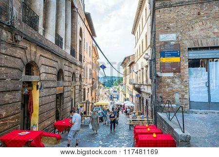 Street View In Urbino, Italy