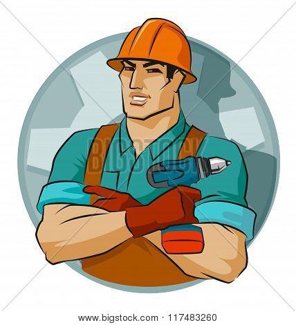 Repairman With Screw Gun