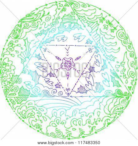 Four Elements Mandala Vector