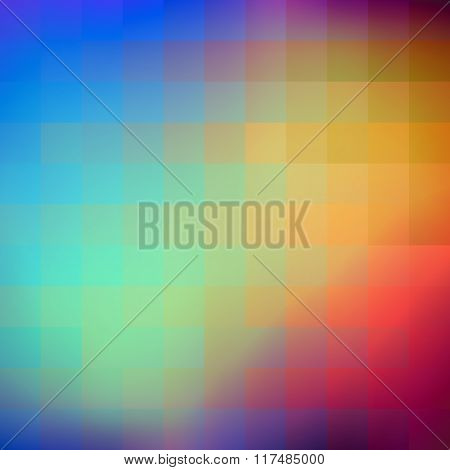 Abstract colorful background of squares.