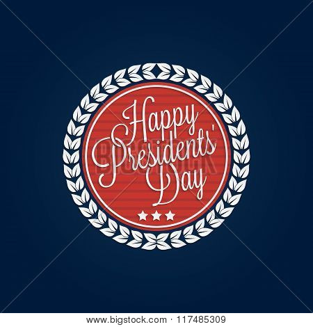 Happy Presidents' Day Lettering