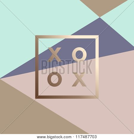 Romantic logo in frame