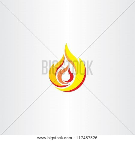 Fire Flame Icon Logo Vector Element
