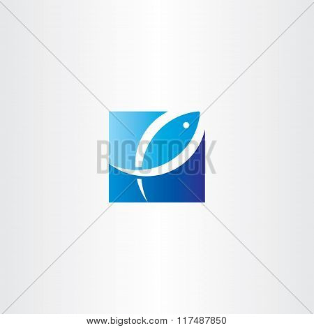 Fish Jumping Out Of Water Vector Logo Icon