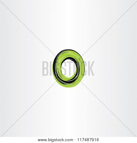 Green Black Letter O Or Number 0 Zero Logo Icon