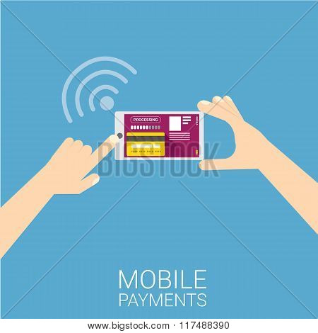 Flsmartphone processing of mobile payments