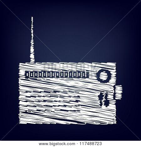 Radio silhouette vector