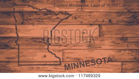 Minnesota Map Brand
