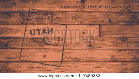 Utah Map Brand