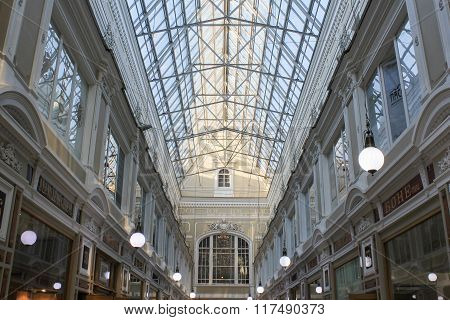 The Upper Floor And The Glass Roof Of The Passage.