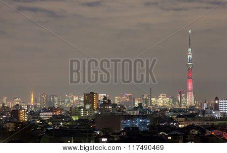 Tokyo city view and Tokyo sky tree