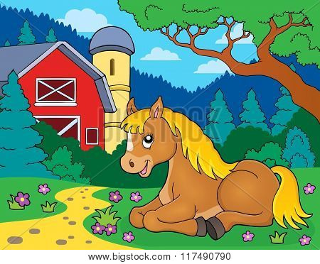 Horse topic image 5 - eps10 vector illustration.