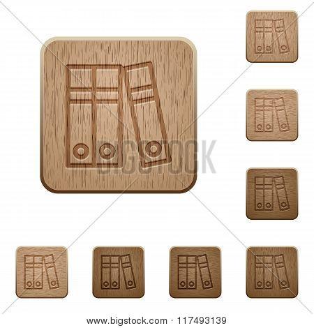 Document Folders Wooden Buttons