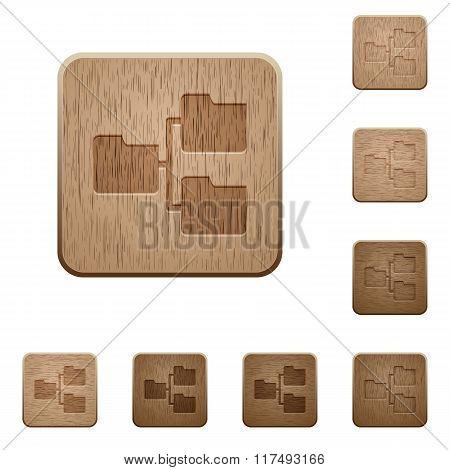 Shared Folders Wooden Buttons