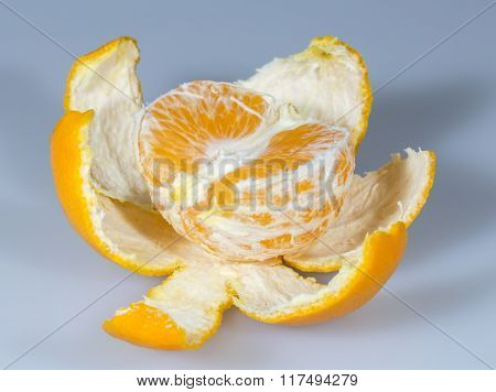 Half Clementine With Peal