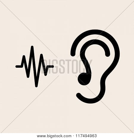 Ear Listen Icon Vector Illustration