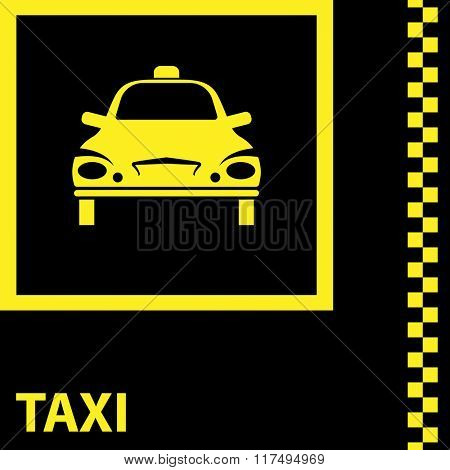 Taxi Icon Symbol Vector Illustration