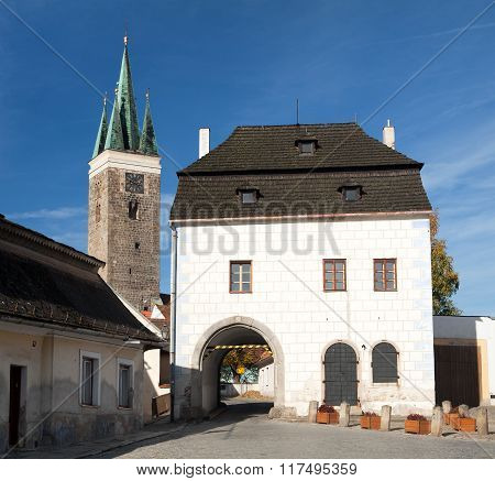 Telc Or Teltsch Town, Town Gateway And Tower