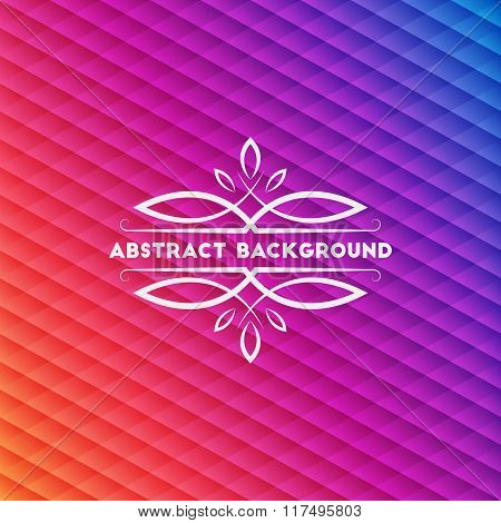 Abstract Multicolored Geometric Background