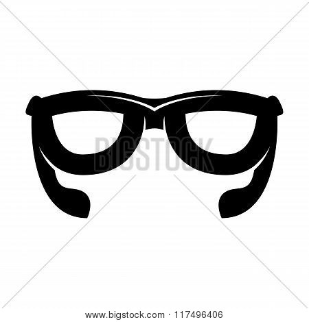 Black glasses logo