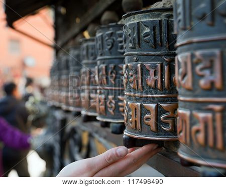 Prayer Wheels And Hand