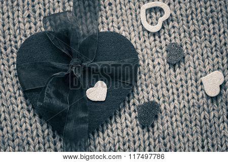 A Big Felt Heart And  Small Hearts
