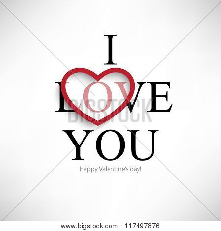 typography i love you valentine's day message