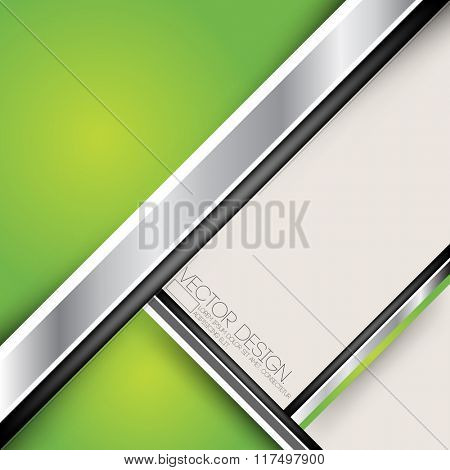 green colored and metallic flat layout material business background