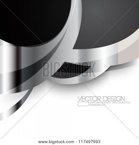 metallic bent lines material concept background
