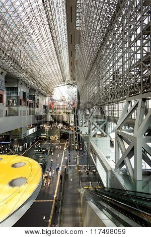 Kyoto Train Station Indoor Hall Vertical