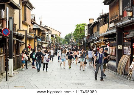 Gion Geisha District Kyoto Japan Teahouses