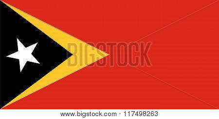 Standard Proportions For Timor Leste Flag