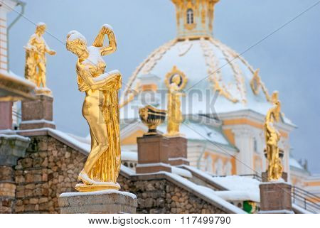 Peterhof. Russia. The Venus Kallipygos Sculpture