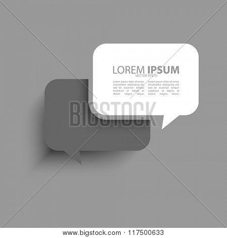 isolated speech balloon flat effect illustration