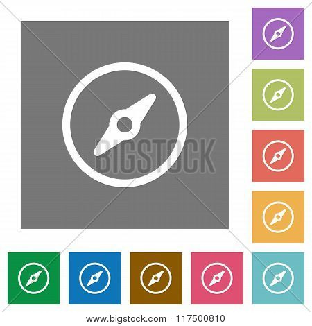 Compass Square Flat Icons