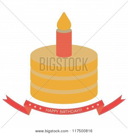 Happy Birthday Congratulations Isolated Vector,