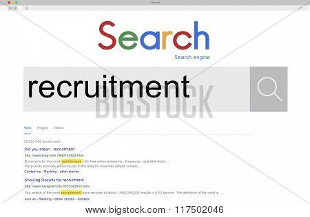 Recruitment Human Resources Job Occupation Staff Concept