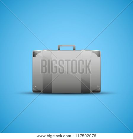Business briefcase, modern icon