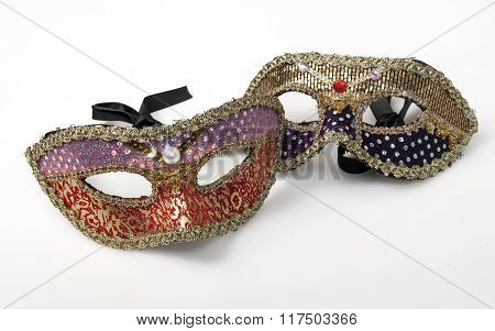 two mask isolated in white background