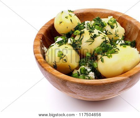 Boiled Potato With Greens