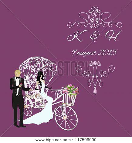 elegance vintage bride and groom