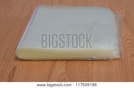 hot plastic bag on table