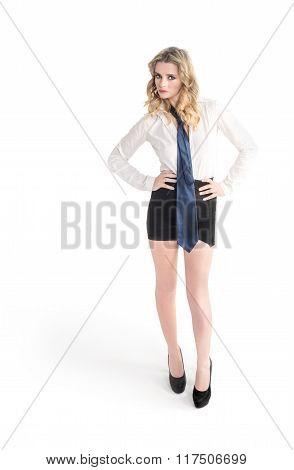 Beautiful Blond Girl Posing