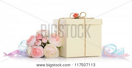gift with floral decoration