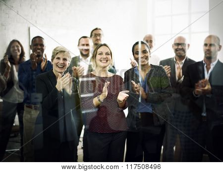 Business People Celebration Success Applauding Concept