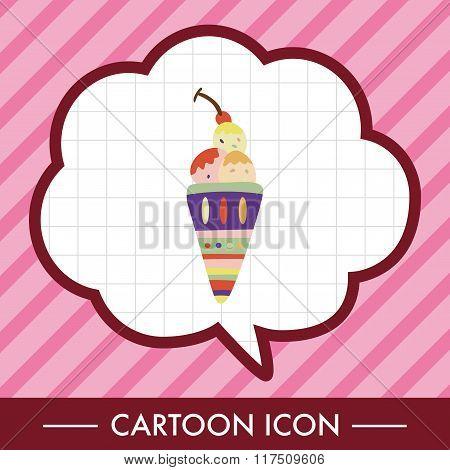 Ice Cream Cartoon Elements Vector,eps