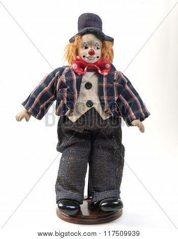 clown toy isolated on white background