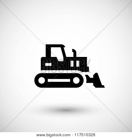 Crawler bulldozer icon